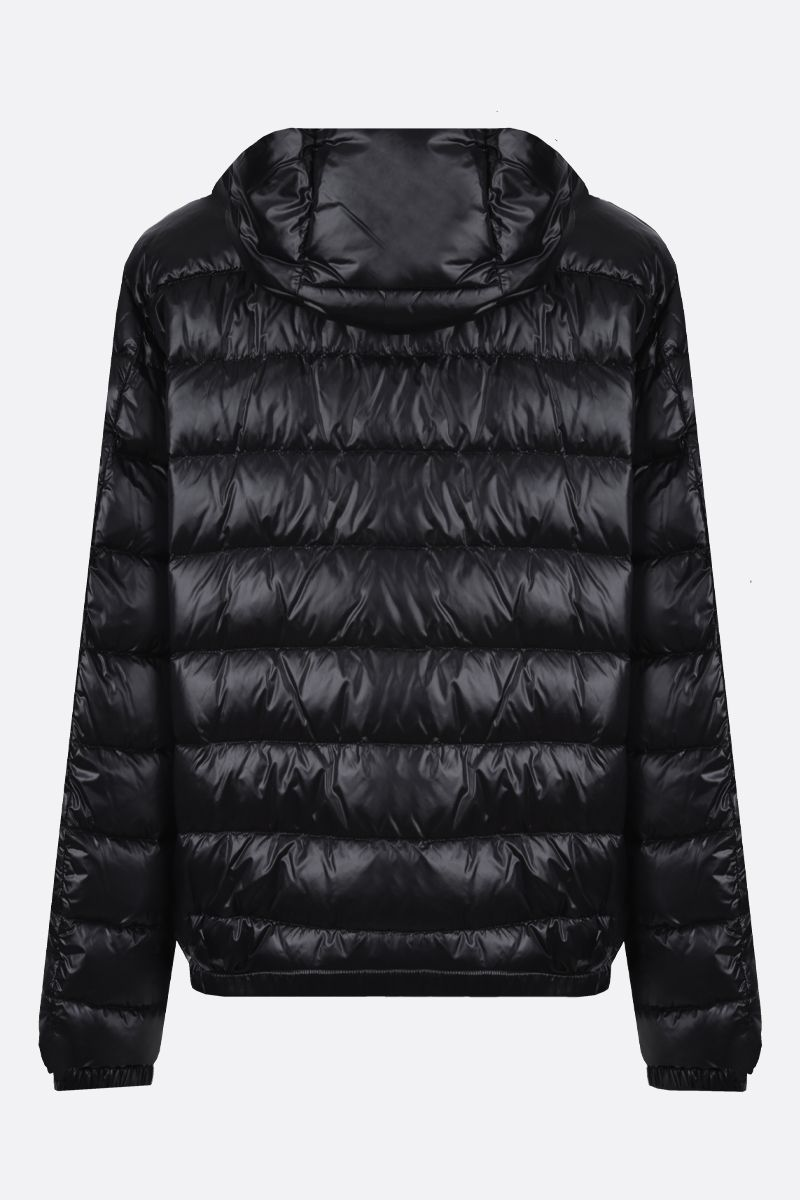 DOLCE & GABBANA: logo-detailed nylon down jacket Color Black_2