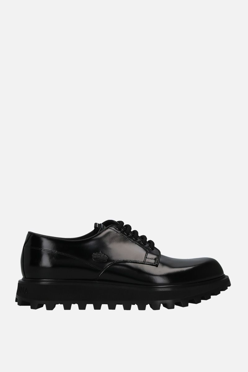 DOLCE & GABBANA: Naxos derby shoes in shiny leather Color Black_1