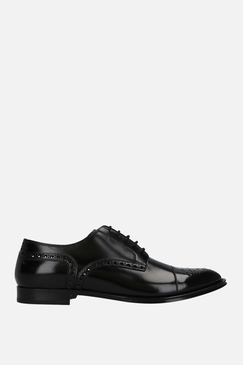 DOLCE & GABBANA: Marsala derby shoes in shiny leather Color Black_1