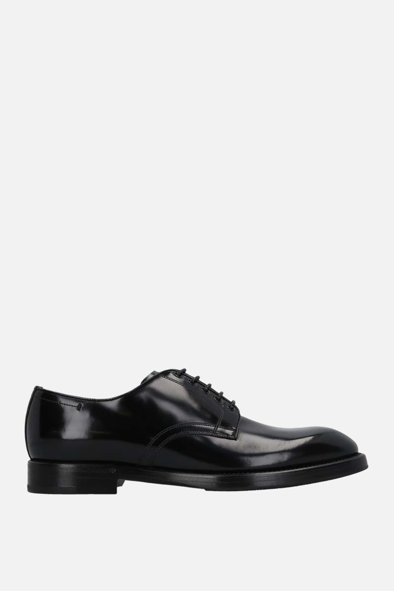 DOLCE & GABBANA: Michelangelo brushed leather derby shoes Color Black_1