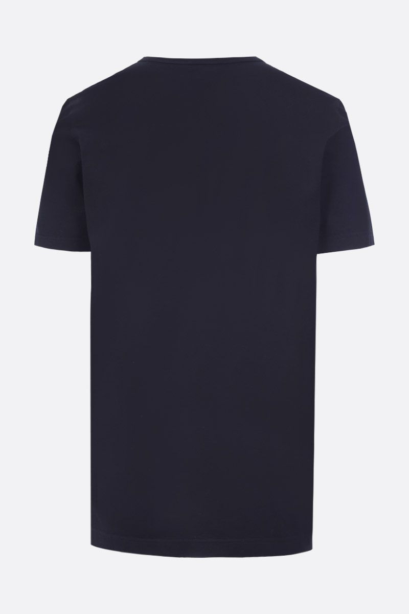 DOLCE & GABBANA: cotton t-shirt with logoed label Color Blue_2
