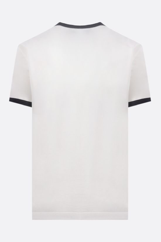 DOLCE & GABBANA: logo print cotton t-shirt Color Neutral_2