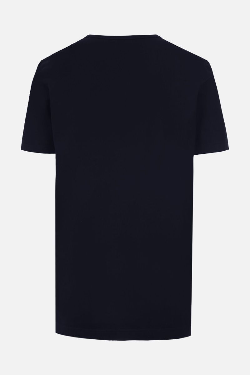 DOLCE & GABBANA: logoed label cotton t-shirt Color Blue_2
