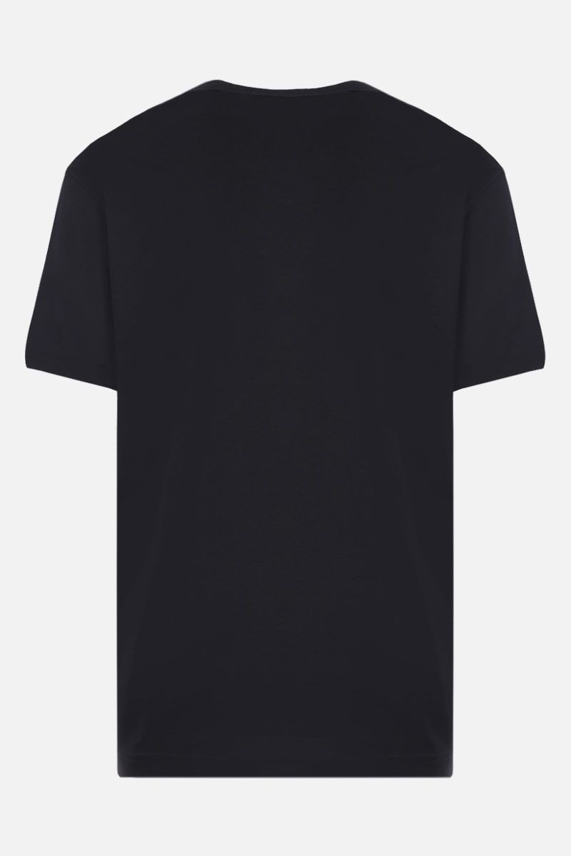 DOLCE & GABBANA: DG patch cotton t-shirt Color Black_2