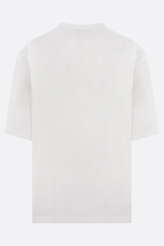 DOLCE & GABBANA: logo-detailed oversize cotton t-shirt Color White_2