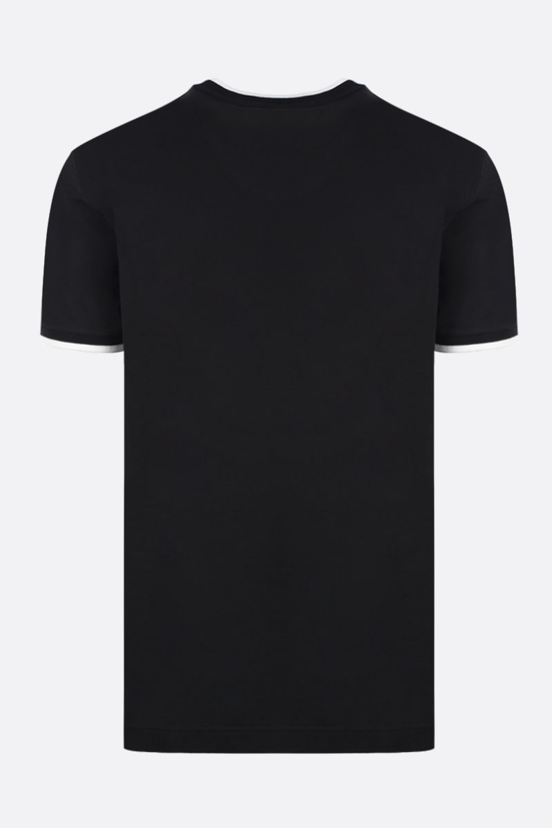 DOLCE & GABBANA: Heritage print cotton t-shirt Color Black_2