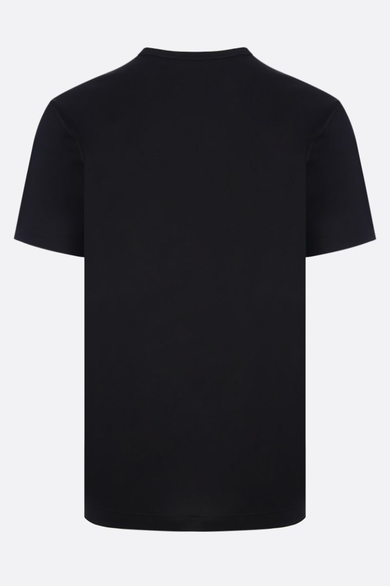 DOLCE & GABBANA: logoed plate jersey t-shirt Color Black_2