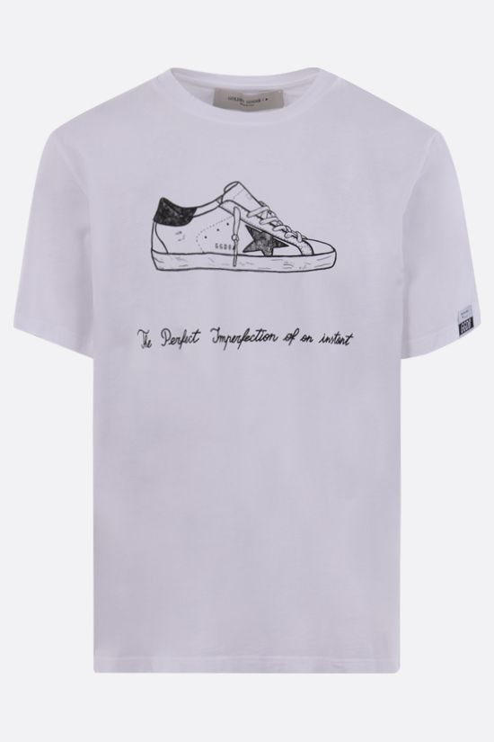 GOLDEN GOOSE DELUXE BRAND: Adamo cotton t-shirt Color White_1