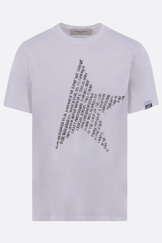 GOLDEN GOOSE DELUXE BRAND: Adamo cotton t-shirt Color Multicolor_1