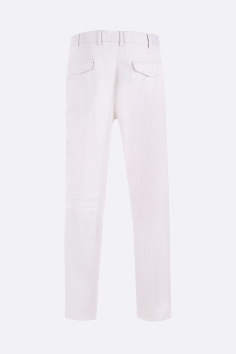 ERMENEGILDO ZEGNA: cotton regular-fit pants Color White_2