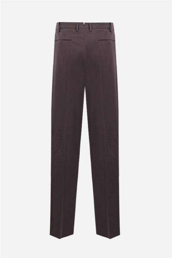 ERMENEGILDO ZEGNA: linen cotton blend regular-fit pants Color Grey_2