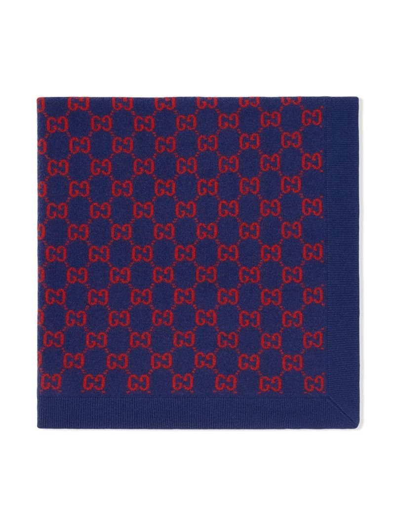 GUCCI CHILDREN: GG wool blanket Color Multicolor_1