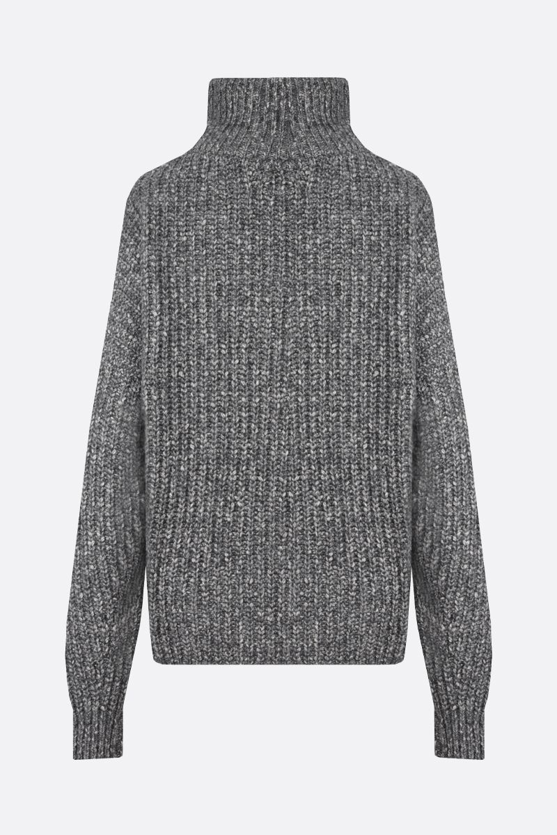 ISABEL MARANT ETOILE: Myclan cotton wool blend oversize pullover Color Grey_2