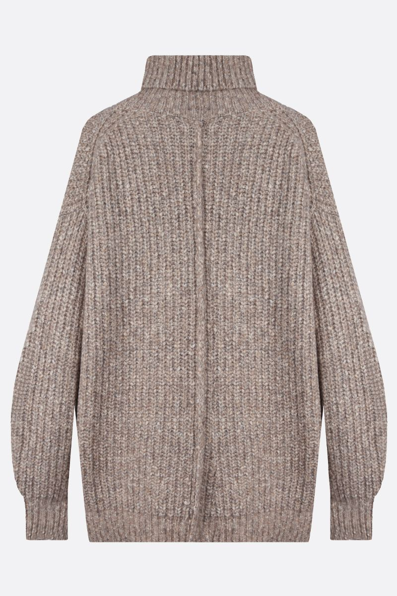 ISABEL MARANT ETOILE: Tonya cotton wool blend oversize turtleneck Color Neutral_2