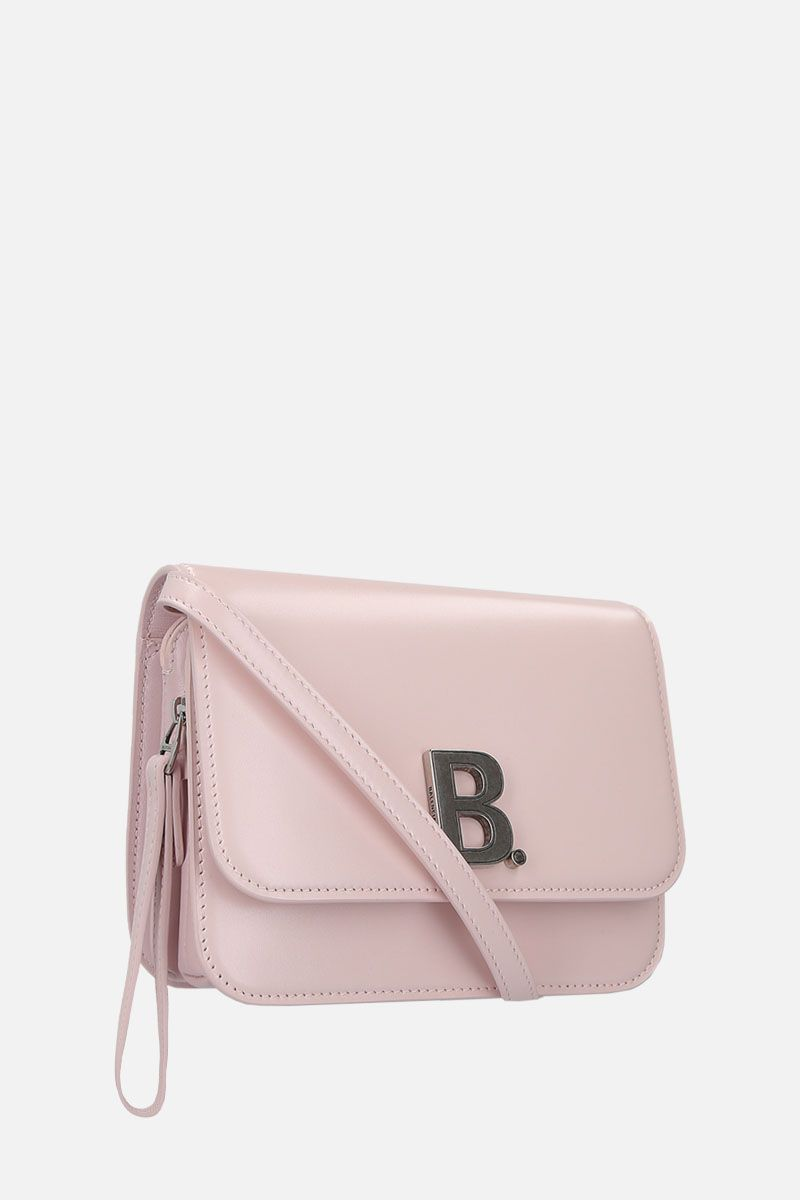 BALENCIAGA: B. small shoulder bag in shiny leather Color Pink_2