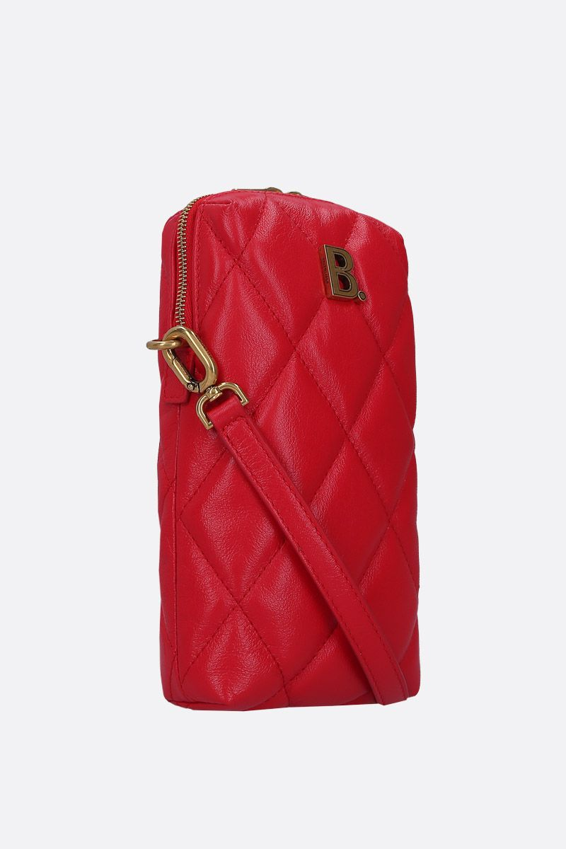 BALENCIAGA: Touch Rectangle crossbody bag in quilted leather Color Red_2