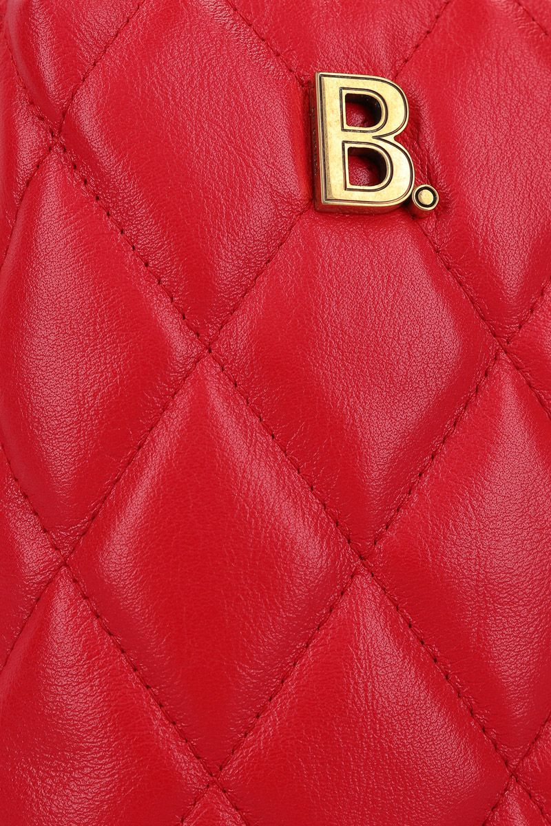 BALENCIAGA: Touch Rectangle crossbody bag in quilted leather Color Red_4