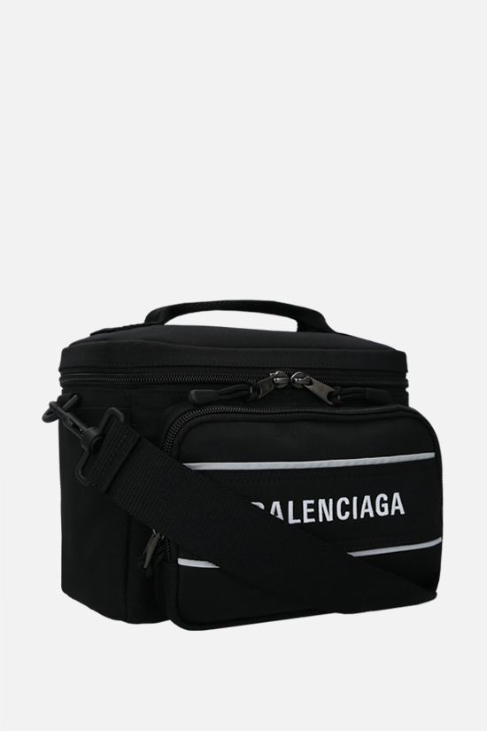 BALENCIAGA: recycled nylon sport camera bag Color Black_2