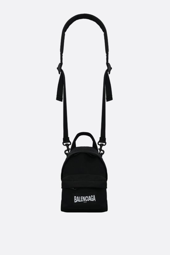 BALENCIAGA: recycled nylon strap oversized backpack Color Black_2