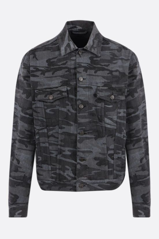 BALENCIAGA: camouflage print denim jacket Color Multicolor_1