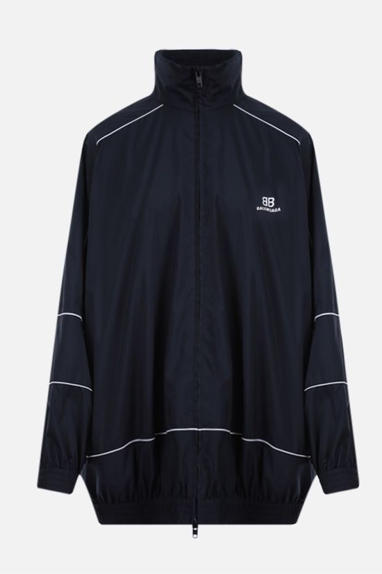 BALENCIAGA: oversize nylon windbreaker Color Blue_1