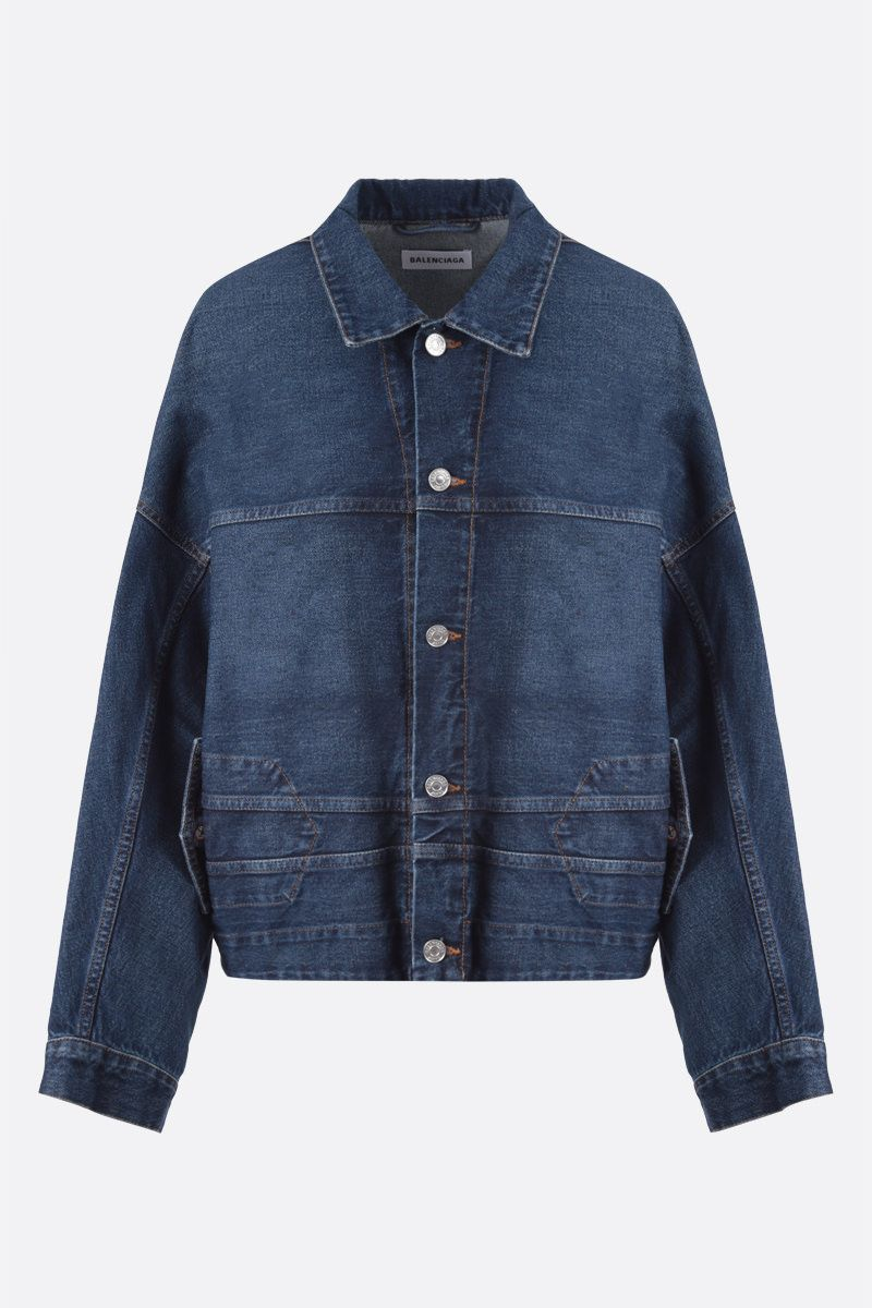 BALENCIAGA: Upside Down denim oversize jacket_1