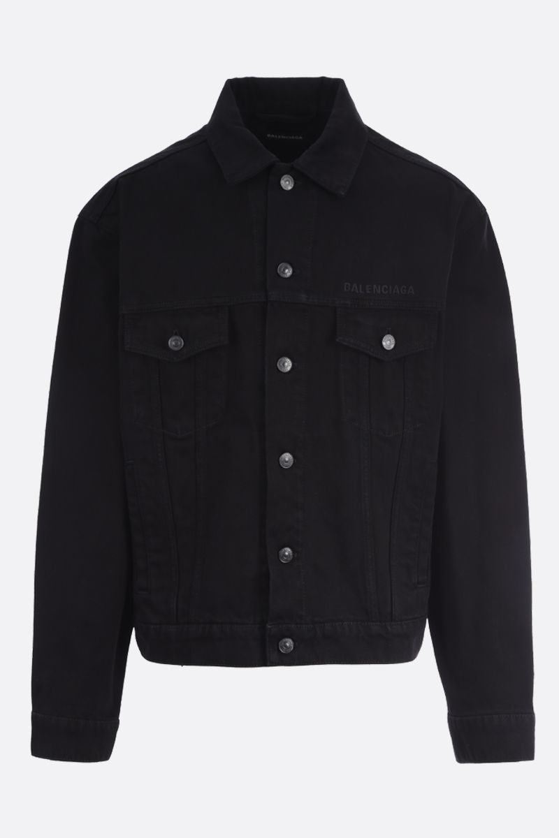 BALENCIAGA: Gym Wear denim oversize jacket_1