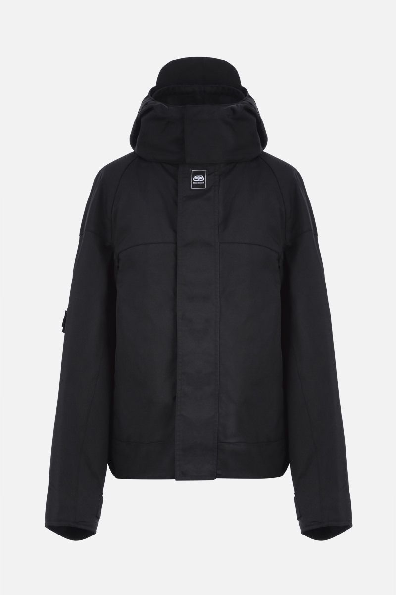 BALENCIAGA: Upside Down nylon padded jacket Color Black_1