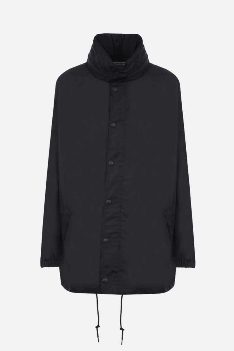 BALENCIAGA: oversize balenciaga embroidered nylon windbreaker Color Black_1