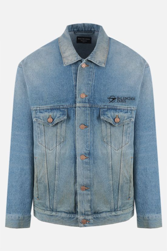 BALENCIAGA: Balenciaga Paris oversize denim jacket Color Blue_1