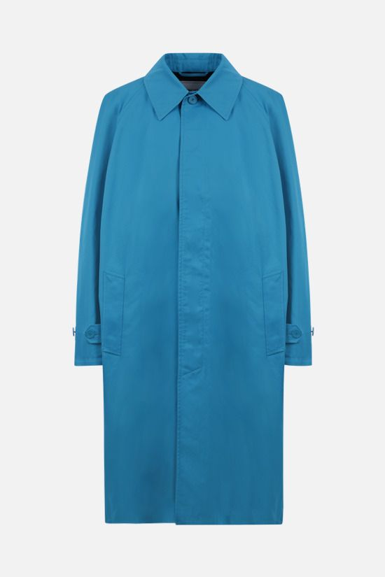 BALENCIAGA: oversize cotton overcoat Color Blue_1