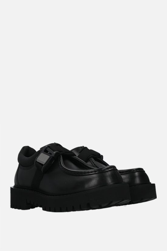 VALENTINO GARAVANI: VLTN buckle-detailed smooth leather loafers Color Black_2