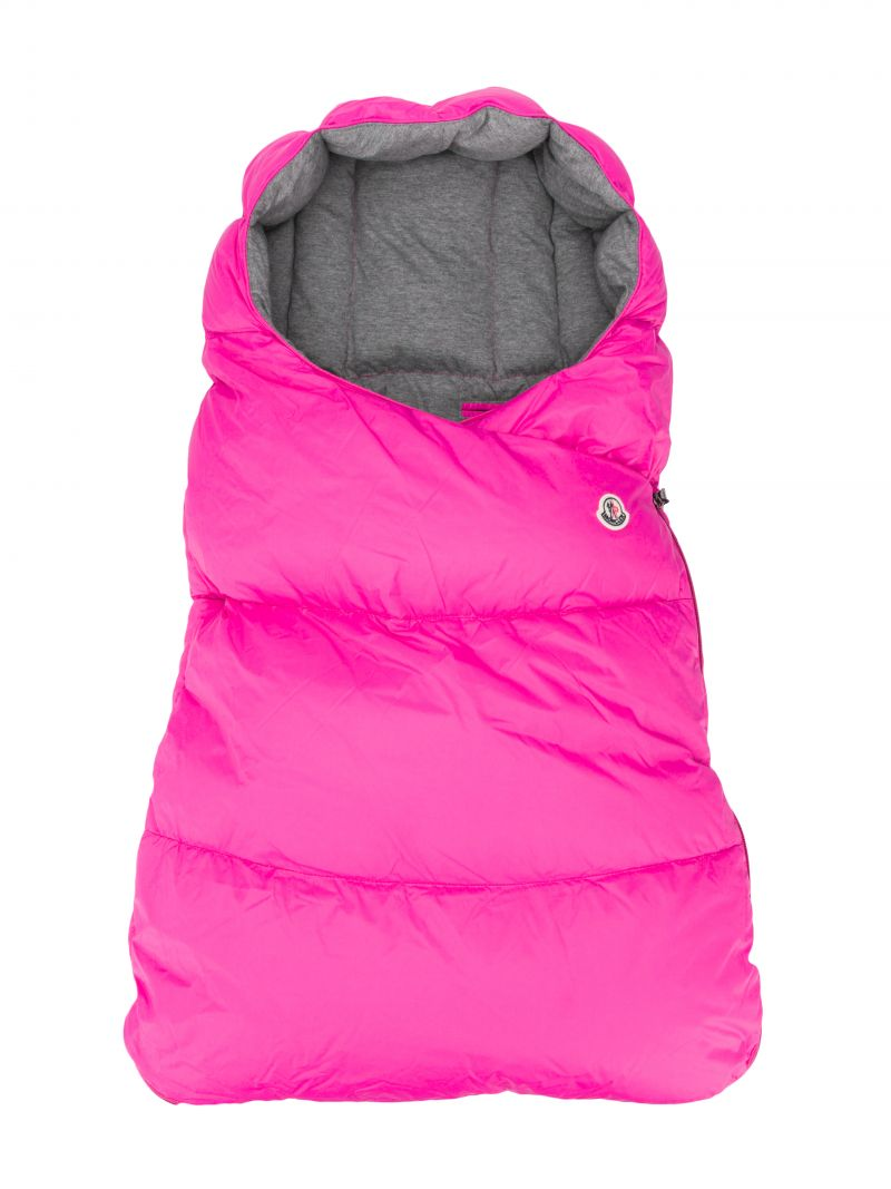 MONCLER KIDS: padded nylon sleeping bag Color Pink_1