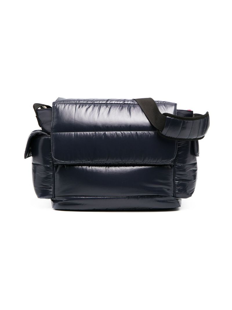 MONCLER KIDS: padded nylon changing bag Color Blue_1