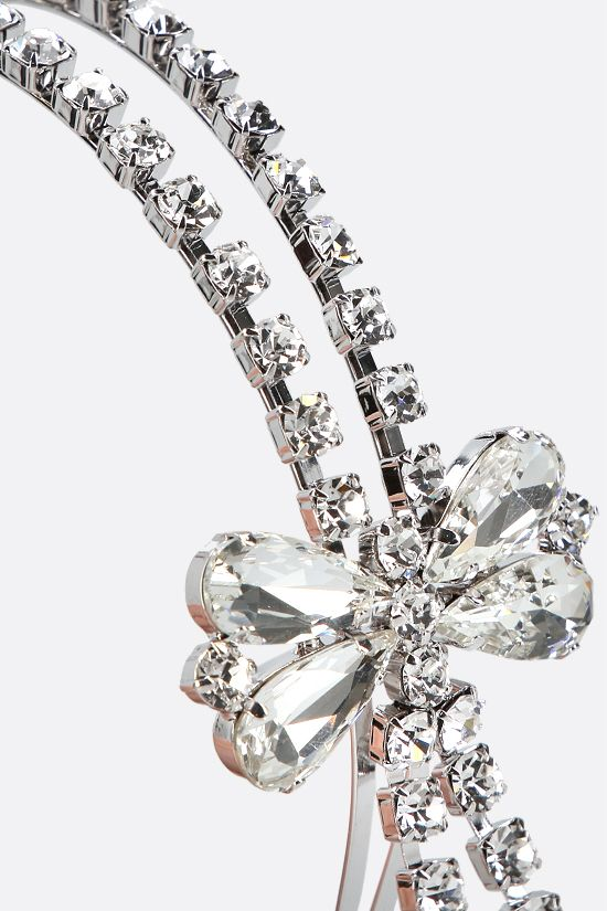 ALESSANDRA RICH: crystal headband with crystal bow Color Neutral_2