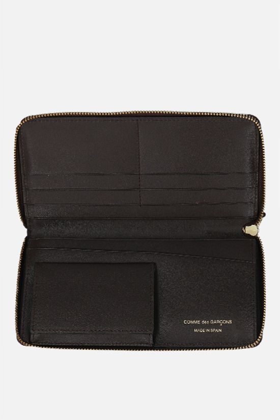 COMME des GARCONS WALLET: smooth leather zip-around wallet Color Brown_2