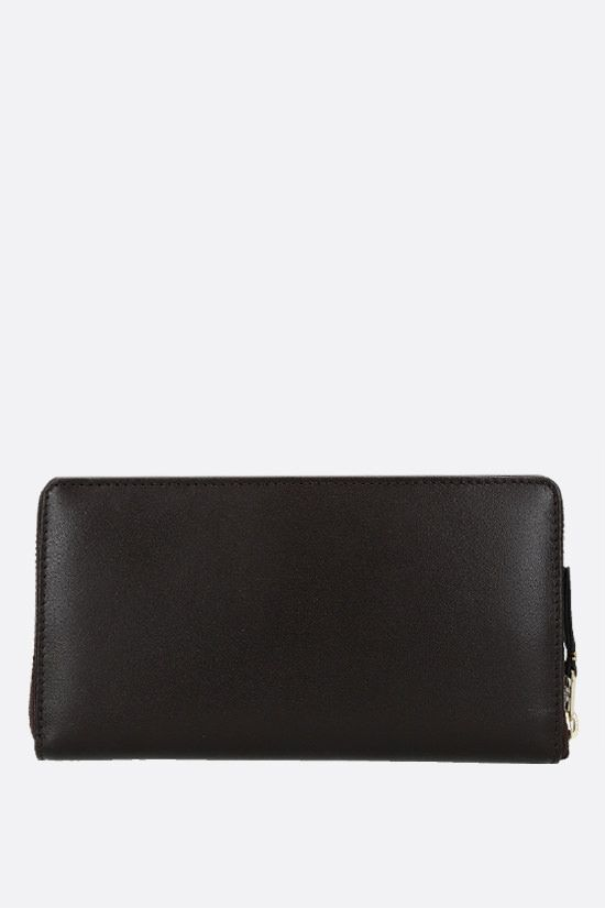 COMME des GARCONS WALLET: smooth leather zip-around wallet Color Brown_4