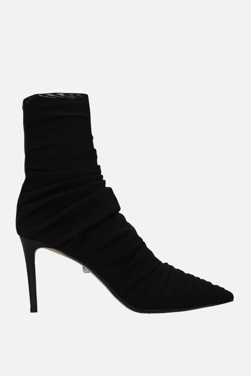 ALEVI' MILANO: Gaia ankle boots in micro mesh Color Black_1