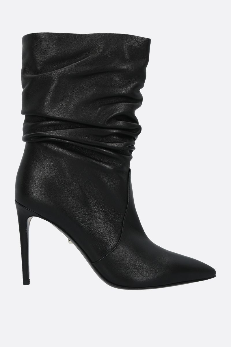 ALEVI' MILANO: Calipso smooth leather booties Color Black_1
