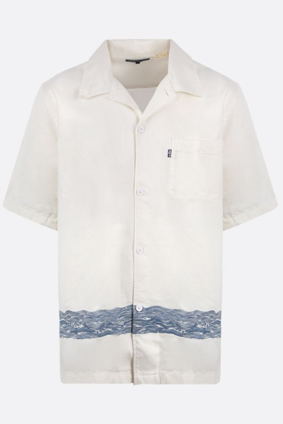 LEVI'S MADE & CRAFTED: wave-embroidered twill bowling shirt Color Multicolor_1