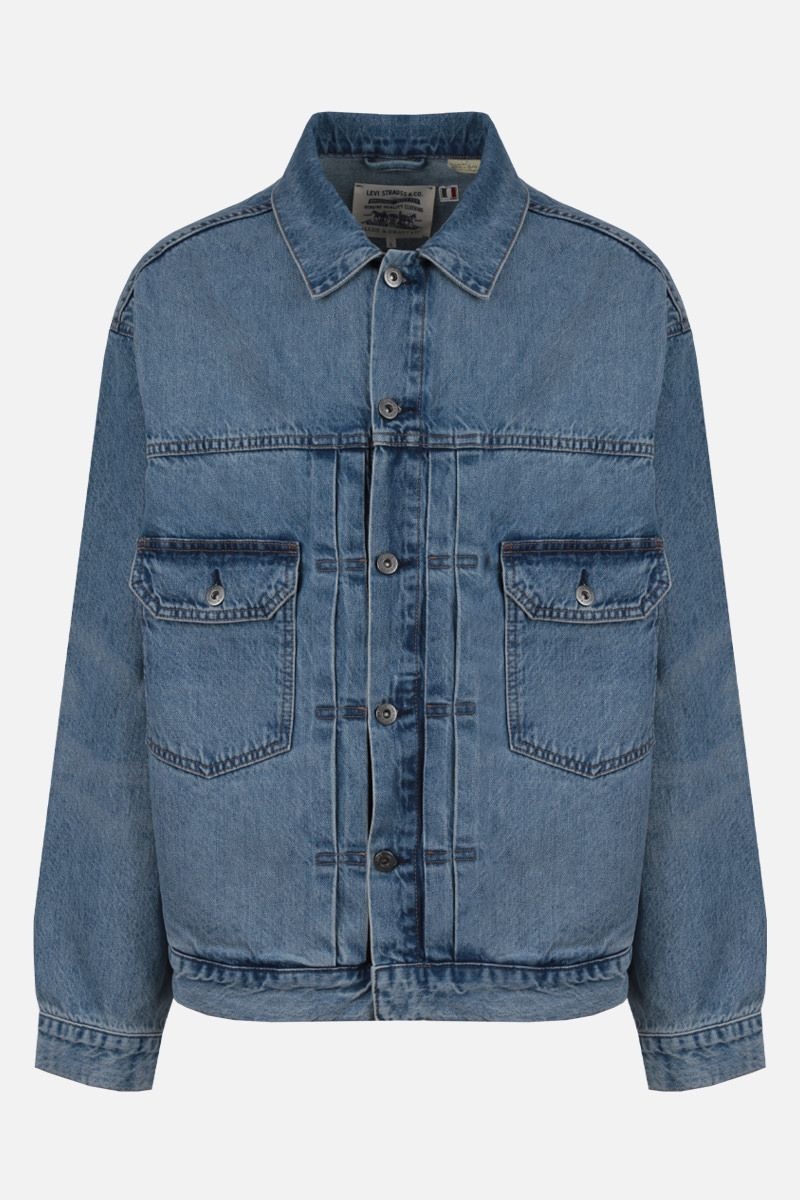 LEVI'S MADE & CRAFTED: oversize denim jacket Color Blue_1