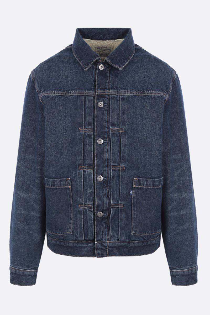 LEVI'S MADE & CRAFTED: faux shearling-lined denim padded jacket Color Blue_1