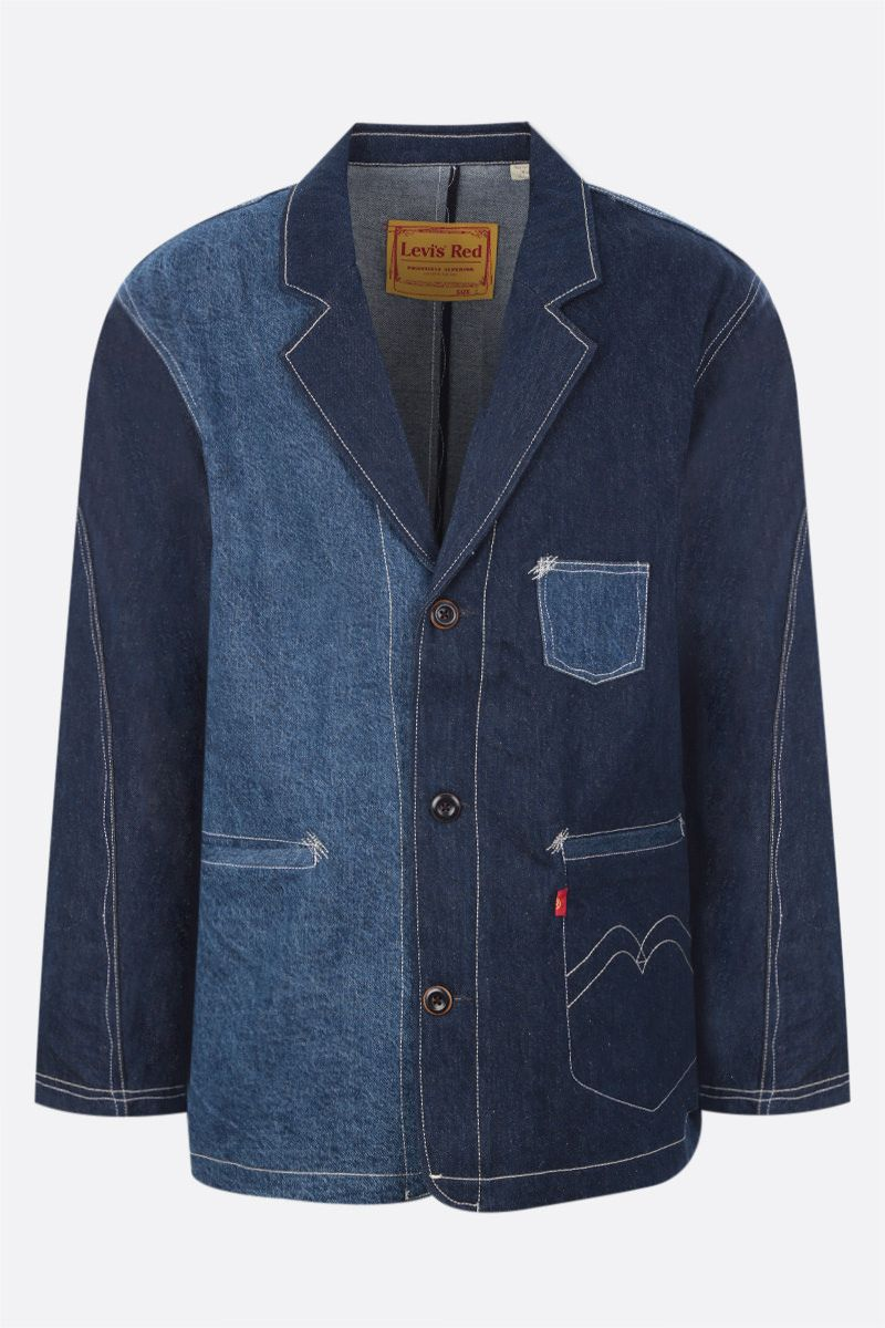 LEVI'S MADE & CRAFTED: giacca-camicia Levi's® Red in denim Colore Blue_1