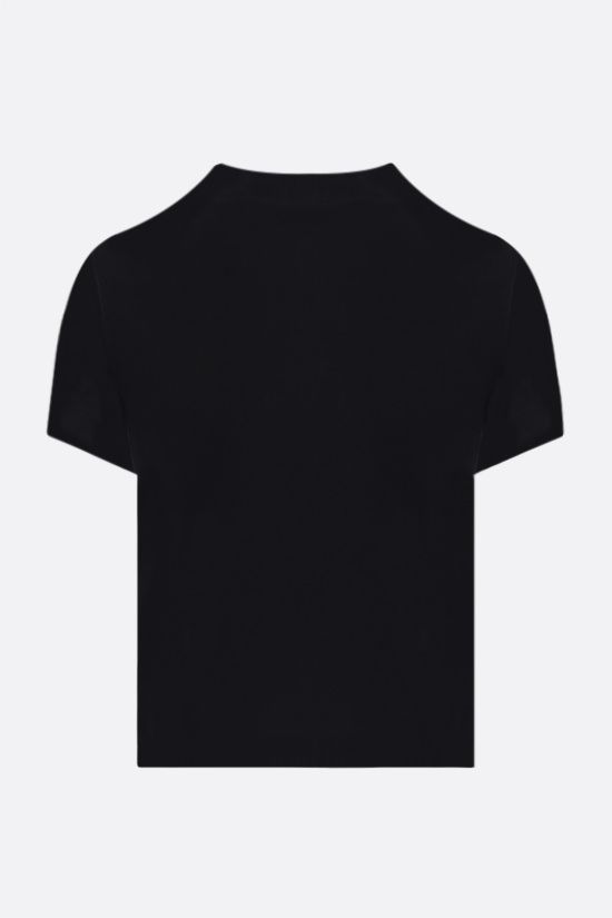 ALEXANDER WANG: logo-detailed jersey cropped t-shirt Color Black_2