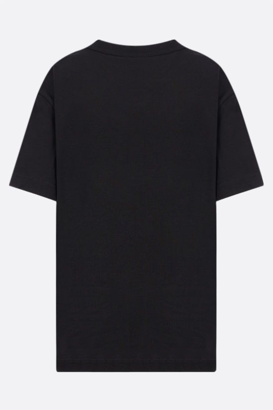 ALEXANDER WANG: t-shirt oversize Logo Calligraphy in cotone Colore Nero_2