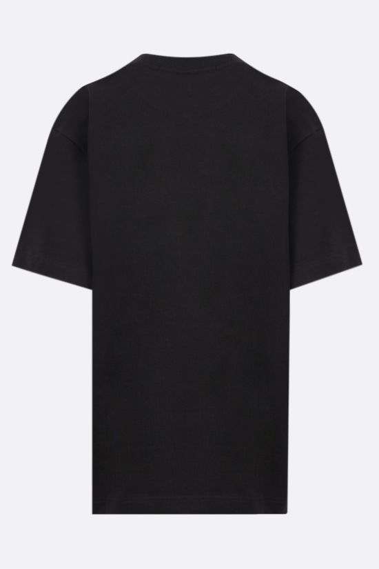 ALEXANDER WANG: Cake print oversize cotton t-shirt Color Black_2