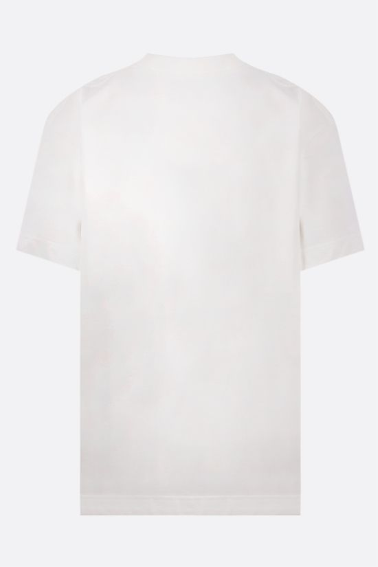 ALEXANDER WANG: Chocolate print oversize cotton t-shirt Color White_2