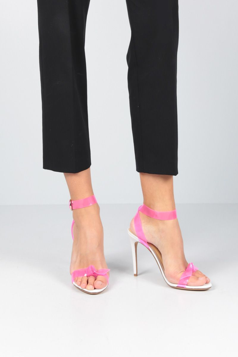 ALEXANDRE BIRMAN: Clarita sandals in nappa leather and PVC Color Pink_2