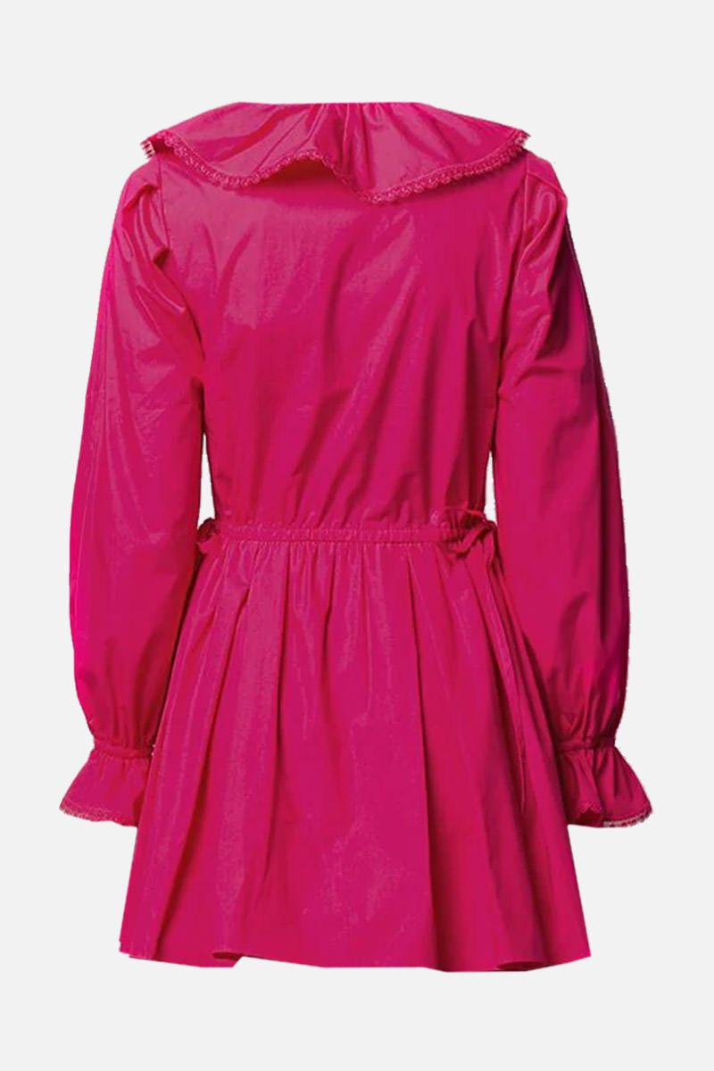 SELF PORTRAIT: lace-trimmed cotton minidress Color Pink_2