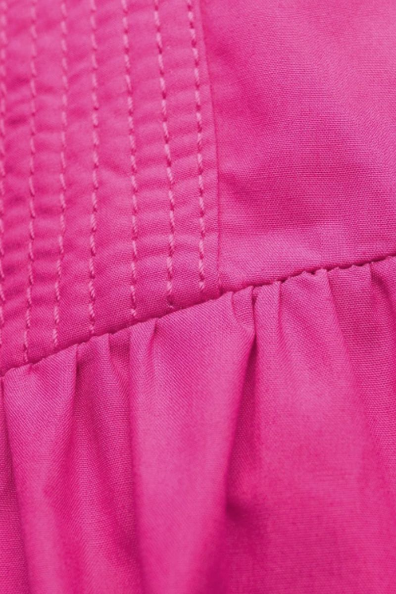 SELF PORTRAIT: bow-detailed cotton long dress Color Pink_2